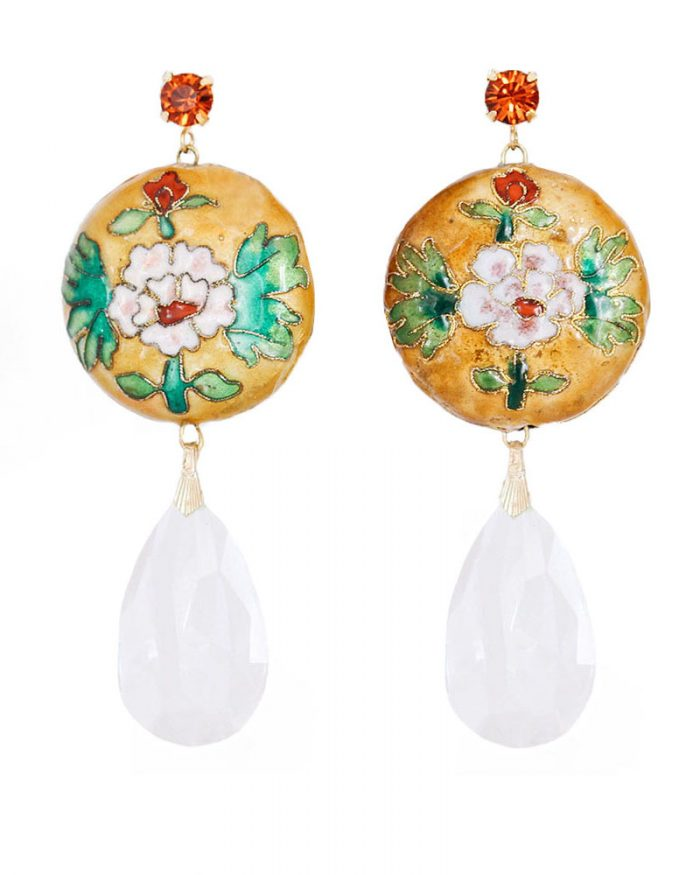 je suis flore, earrings, statement earrings, gemstone, gemstone earrings, gemstones, crystal, crystals, crystal earrings, floral, floral earrings, florals, cameo, cameo earrings, statement, statement earrings, statement jewelry, pearls, pearl, pearl earrings