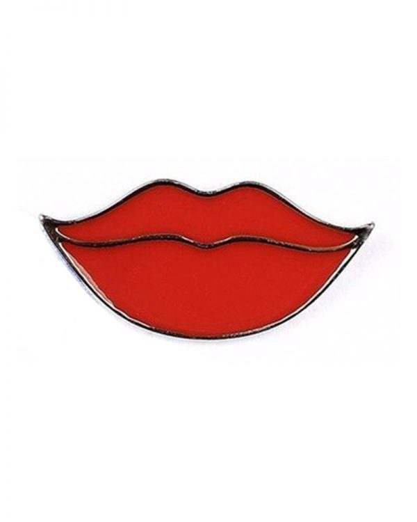 je suis flore, pin, pins, lips, lips pin, your lips on mine