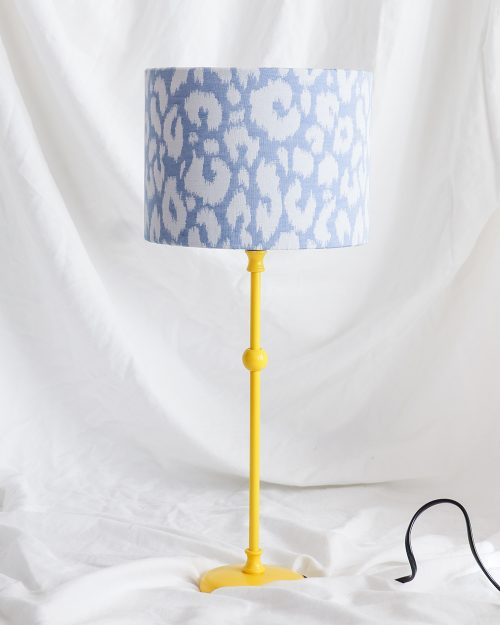 je suis flore, lamp, lampen, lampenkap, panterprint, panterprint lampenkap, panterprint lampenkap klein, geel lampje, gele lamp