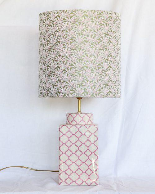je suis flore, lampen, lampenkap, lampenkappen, lamp, jacquard, botanical party, Marrokkaanse lamp