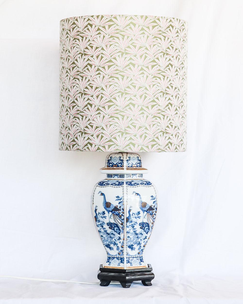 je suis flore, lampen, lampenkap, lampenkappen, lamp, jacquard, botanical party, peacock lamp